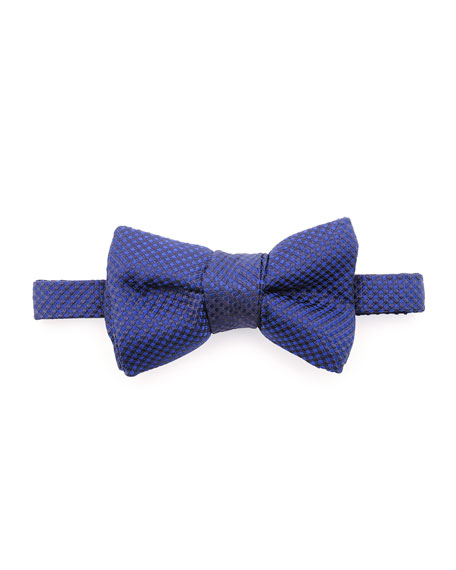 TOM FORD Micro-Check Bow Tie, Blue
