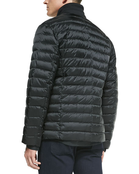 Armani Collezioni Quilted Puffer Jacket Black