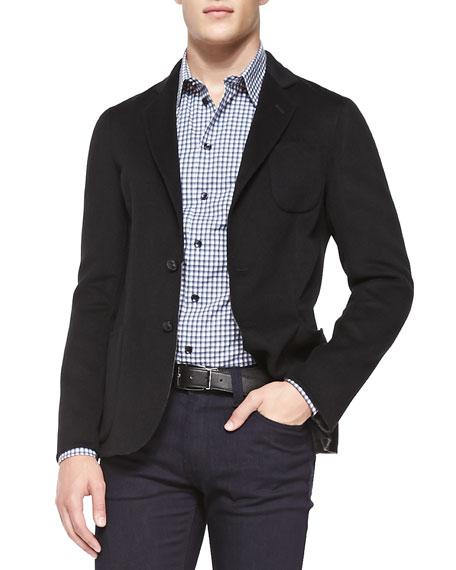Armani Collezioni Cashmere/Wool Jacket, Black