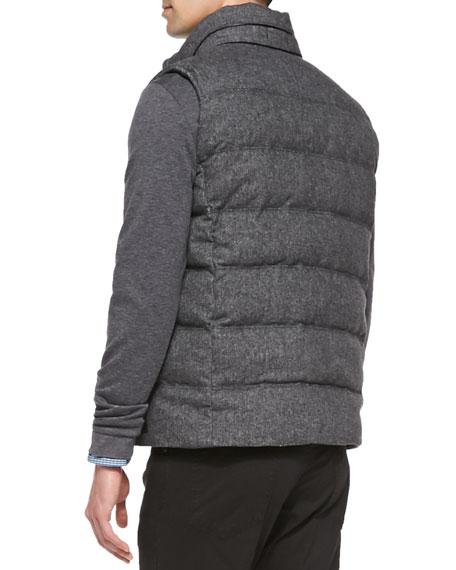 c6705d90568 Boss Hugo Boss Reversible Puffer Vest, Charcoal
