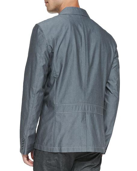 Double-Pocket Military Jacket, Navy