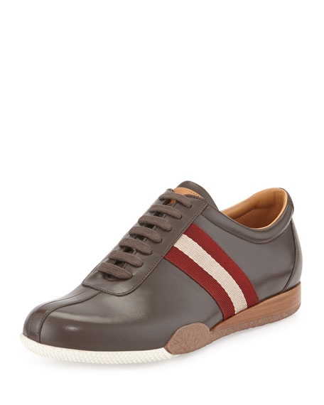 Bally Freenew Leather Sneaker, Chocolate