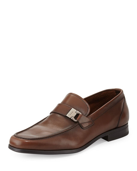 Salvatore Ferragamo Tazio Buckled Leather Loafer