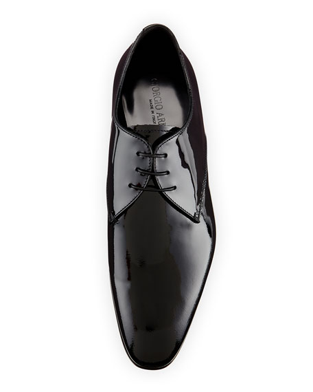 Patent Derby Shoe
