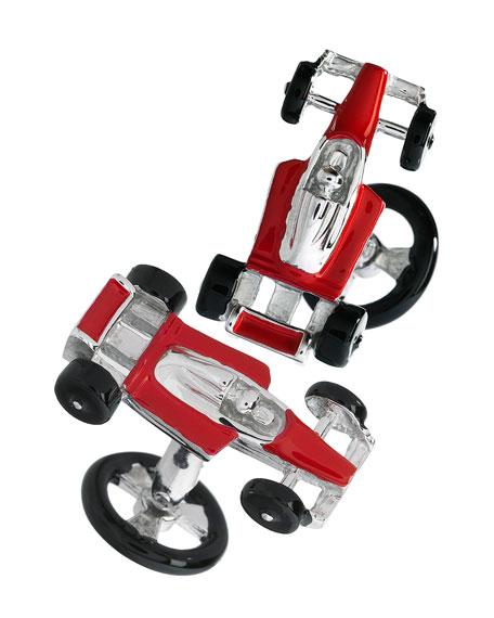 Red Racecar Cuff Links