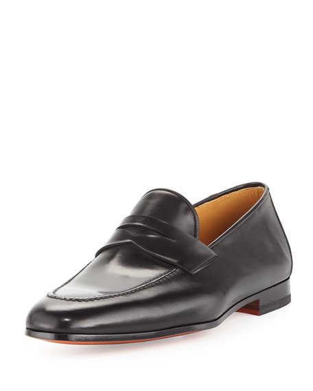 Apron-Toe Penny Loafer, Black