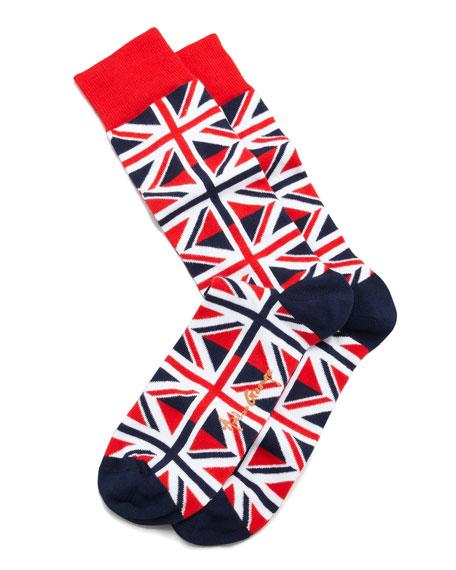 Union Jack Men's Socks, Red/White/Blue