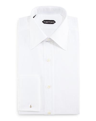 Classic Slim-Fit Classic Dress Shirt, White