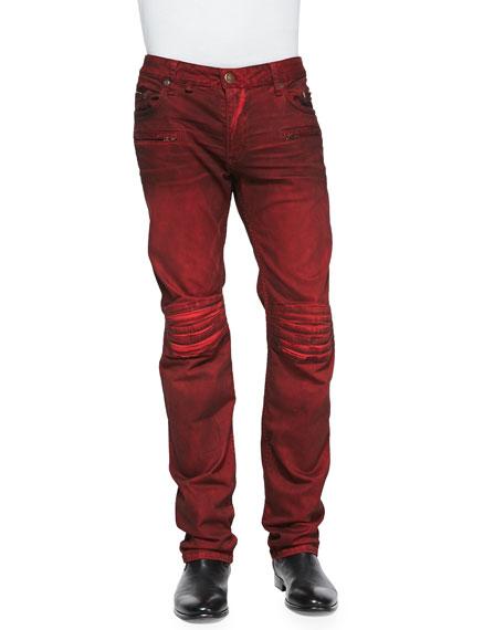 7ab03cbb226c Robin s Jean 3D Denim Moto Pants