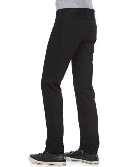 Rambler Slim-Fit Raw Selvedge Jeans, Black