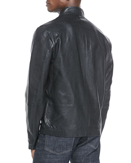 Christo L Apoc Leather Jacket