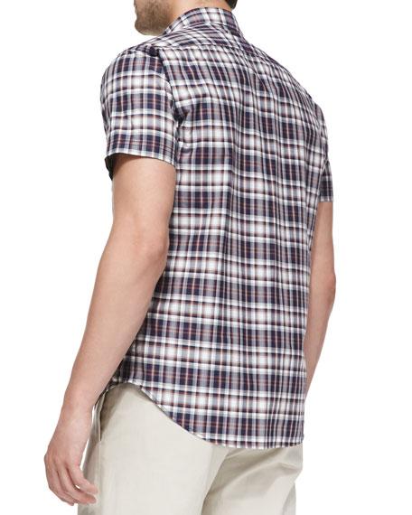 Zack Natna Plaid Shirt, Blue