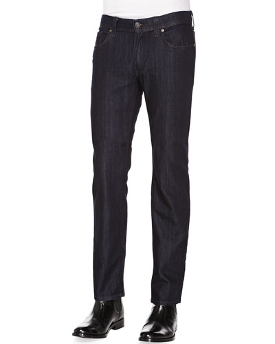 Slim Jimmy Judas-Rinse Jeans, Dark Blue