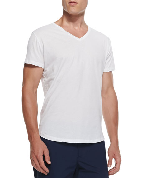 Orlebar Brown Jersey V-Neck T-Shirt, White
