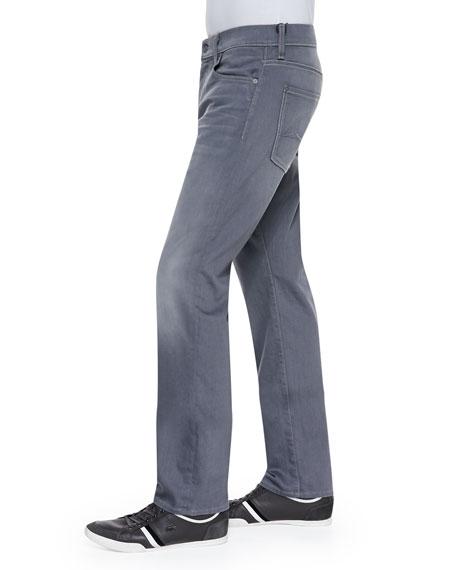 Carson Vesper Faded-Leg Jeans, Gray