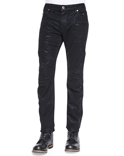 Madonna Shiny Moto Jeans