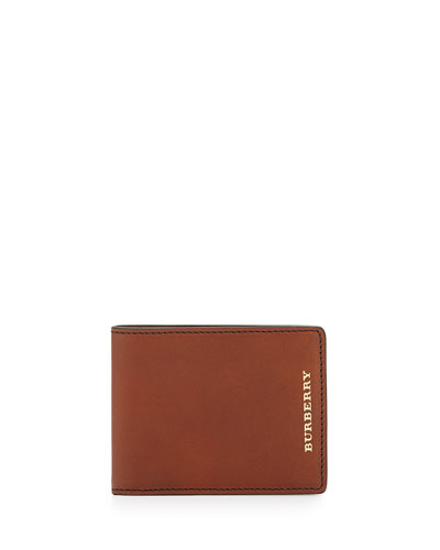 Soft Leather Bi-Fold Wallet, Tan