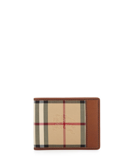 Burberry Check Hipfold Wallet, Brown