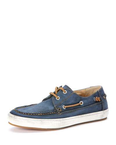 Norfolk Leather Oxford Shoe, Blue