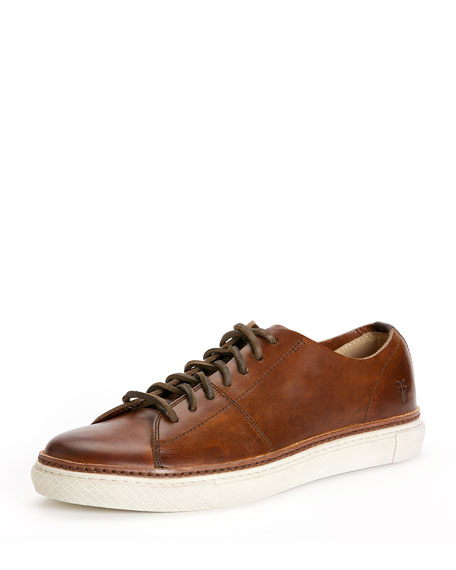 Frye Gates Low Lace Up Sneaker Brown Neiman Marcus