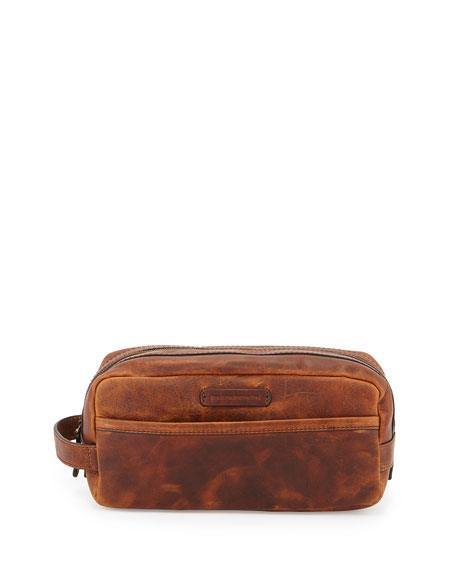 Frye Logan Leather Travel Kit, Cognac