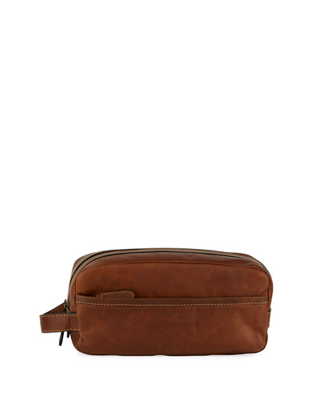 Frye Logan Leather Travel Kit, Dark Brown