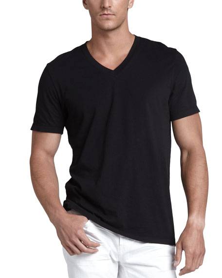 V-Neck Jersey T-Shirt, Black