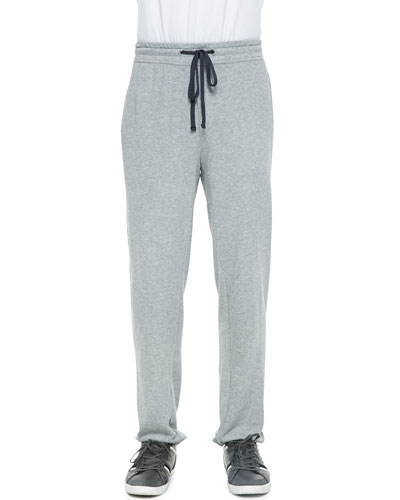 Classic Drawstring Sweatpants, Heather Gray