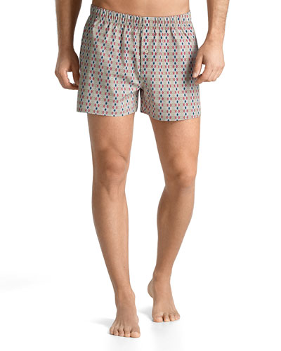 Fancy Woven Multi-Patterned Boxer Shorts