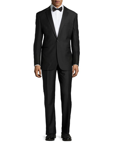 Wool Tuxedo with Flat-Front Trousers