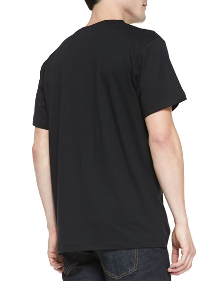 Whale-Graphic Jersey Tee, Black