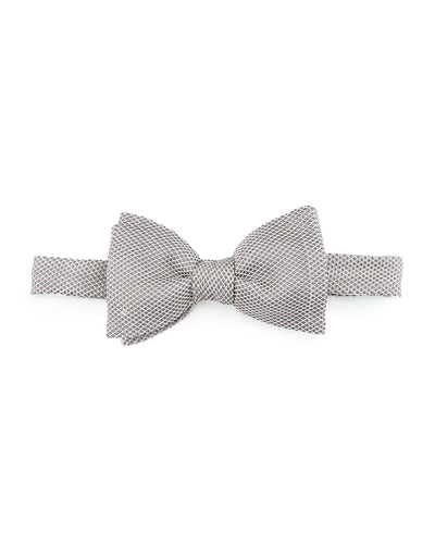 Classic Grenadine Bow Tie, Gray