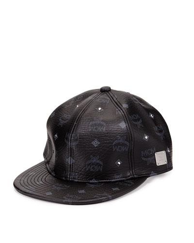 Visetos Logo Stud Cap, Black