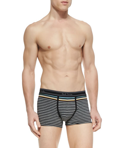 Striped Trunks, Gray/Multi