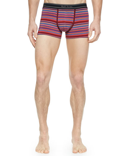 Multi-Stripe Boxer Briefs, Pink Multi