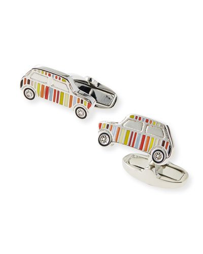 Multi-Stripe Mini Car Cuff Links