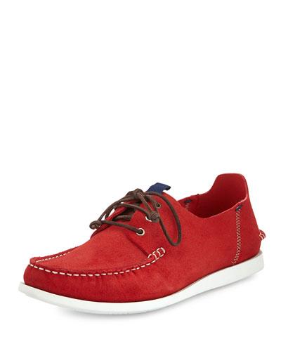 Dagama Boat Shoe, Red