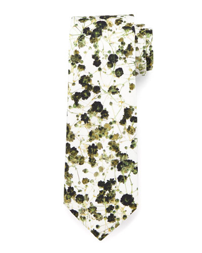 Baby's Breath Knit Tie, White