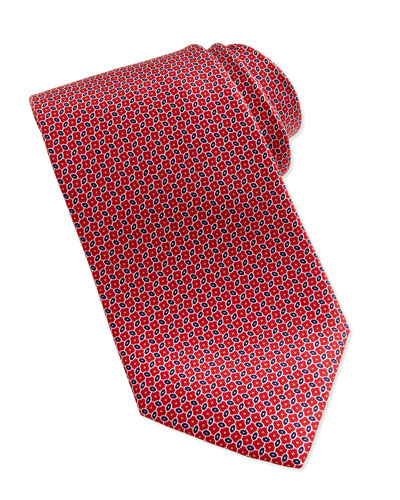 Linked Ovals Neat Tie