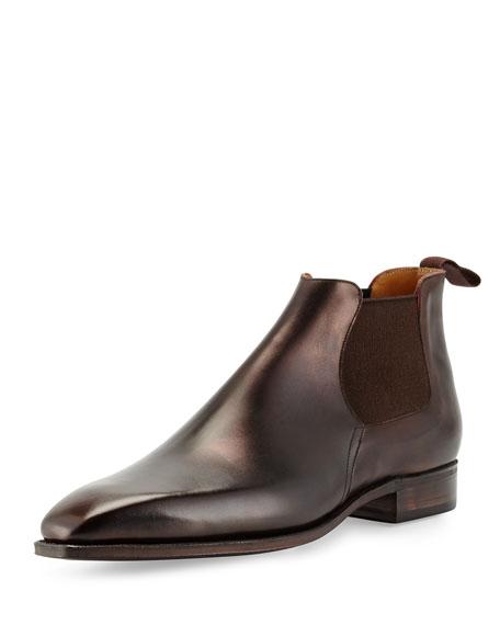 Prada Rubber Sole Chelsea Boot Black