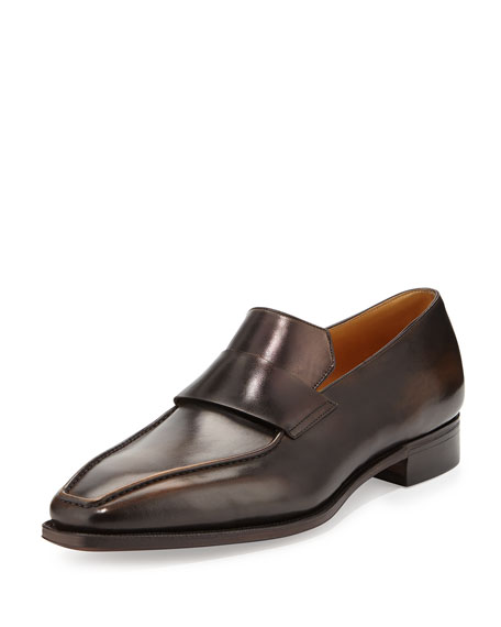 Corthay Massai Calf Leather Loafer with Old Black