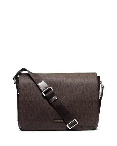 Michael Kors Large Printed Messenger Bag, Brown