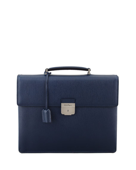 Revival Double-Gusset Briefcase, Blue