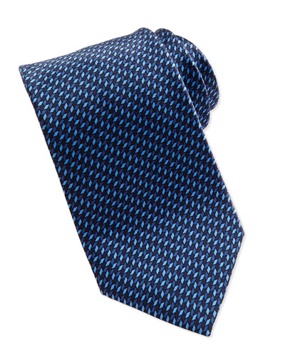 Micro 3D-Diamonds Tie, Blue