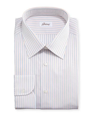 Ground-Stripe Textured Dress Shirt
