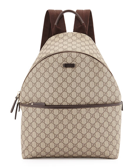 Gucci GG Supreme Canvas Backpack, Beige
