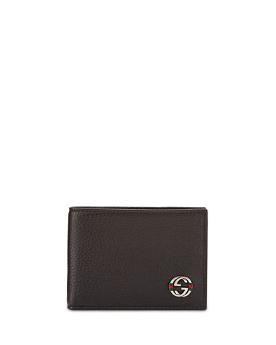Ace Mini Leather Wallet, Black
