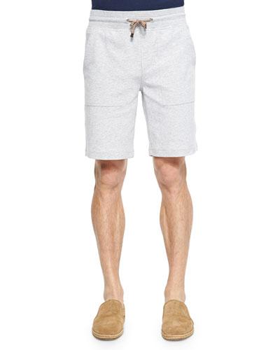 Cotton-Blend Spa Bermuda Shorts, Gray