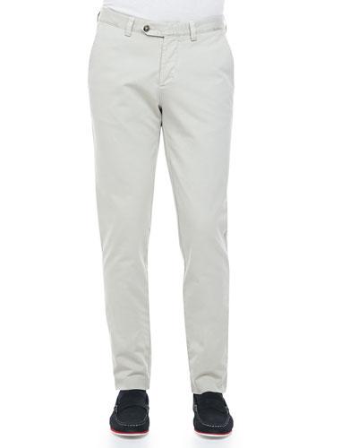 Garment Dyed Chino Pants, Beige Stone
