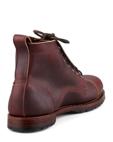 Monroe USA Leather Cap-Toe Ankle-Boot, Russet